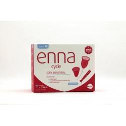 Enna 2 copas menstruales + esterilizador + aplicador talla M