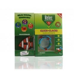 Relec pulsera antimosquitos click-clack + REGALO reloj sumergible