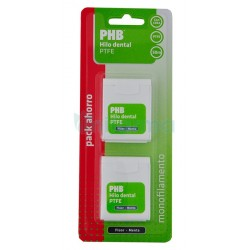 Phb Hilo Dental Ptfe Fluor y Menta pack 2x 50 m