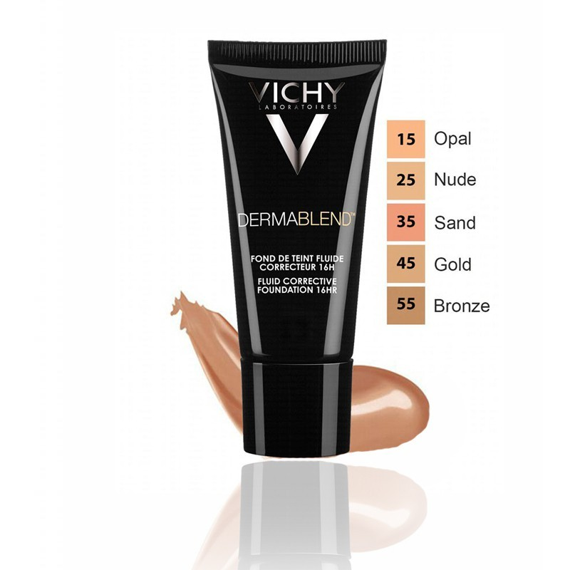 Vichy Dermablend Fondo Maquillaje Corrector 55 Bronce 30 ml