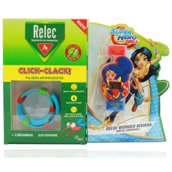Relec Pulsera Antimosquitos + Regalo Reloj Wonder Woman