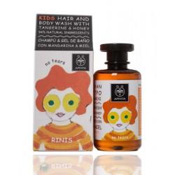 Apivita Kids Champú y Gel de Baño Niños Mandarina & Miel 250 ml