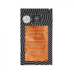 Apivita Mascarilla Capilar Brillo con Naranja y Miel 20 ml