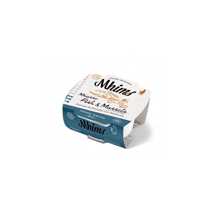 Mhims Mousse para Gato - Pescado con Mejillon 70 g