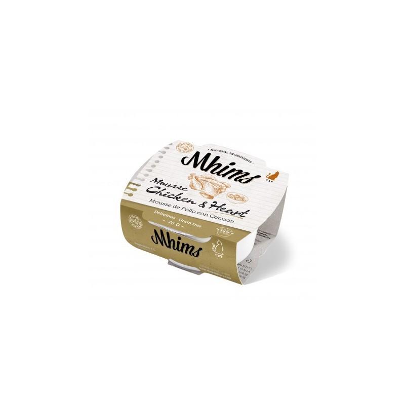 Mhims Mousse para Gato - Pollo con Corazon 70 g