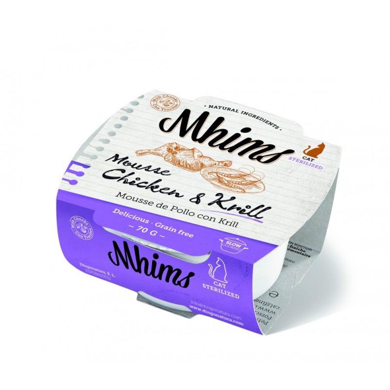 Mhims Mousse para Gato - Pollo con Krill 70 g
