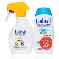 Ladival Duplo Spray Protector SPF50 Niños 200 ml + Aftersun Niños 200 ml