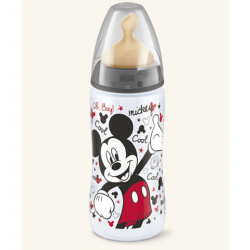 Nuk Biberon FC+ Disney Mickey y Minnie Latex 6-18m 300 ml
