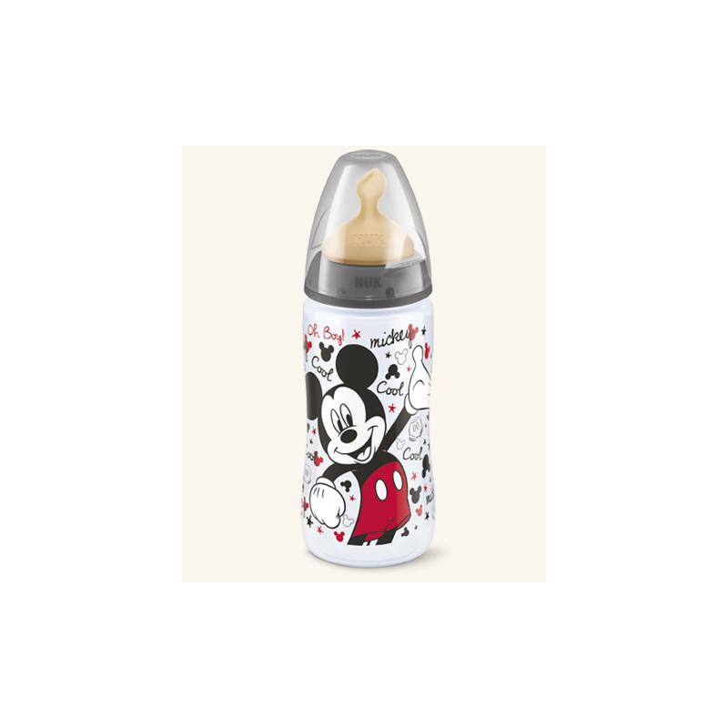 Nuk Biberon FC+ Disney Mickey y Minnie Latex 6-18m 300 ml