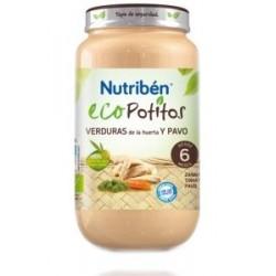 Nutriben Eco Potito Verduras de la Huerta y Pavo 200g