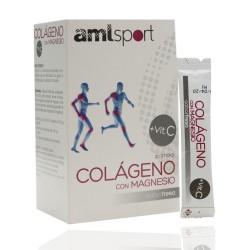 Amlsport Colágeno con Magnesio + Vitamina C 20 Sticks Fresa