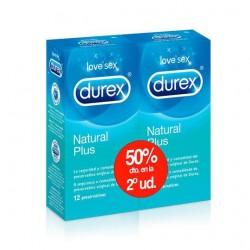 Durex Natural Plus Duplo Preservativos 2x12 Unidades